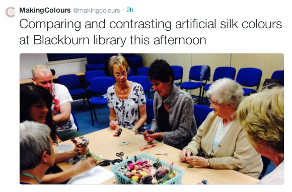 Blackburn Library CCC blazing a trail 10.9.14 atmakingcolours