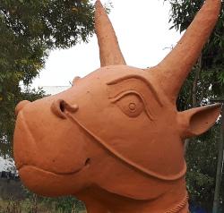 clay cow smaller