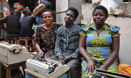 Typists in Rwanda