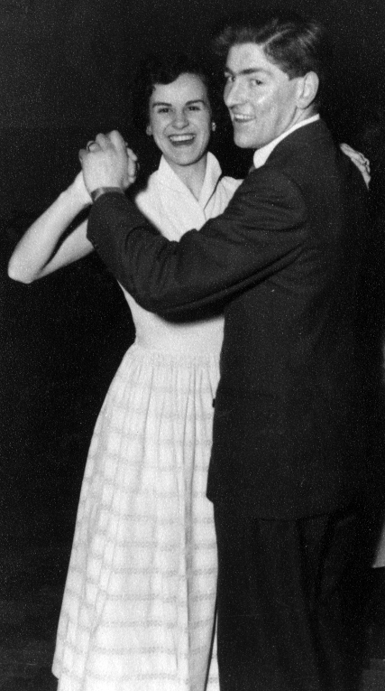 Jean and Terry Boyle dancing, 1955